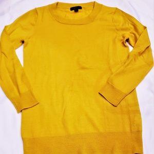 Mustard J. Crew 100% Merino Wool Sweater Size XXS